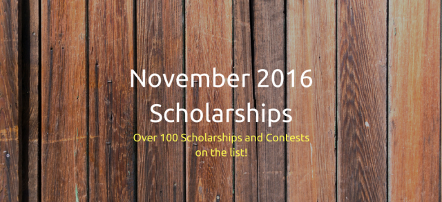 November 2016 Scholarships | JLV College Counseling Blog