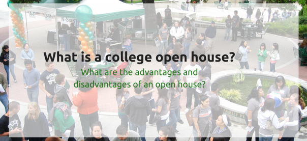 What is a college open house? Are there advantages and disadvantages to attending an open house? | JLV College Counseling Blog