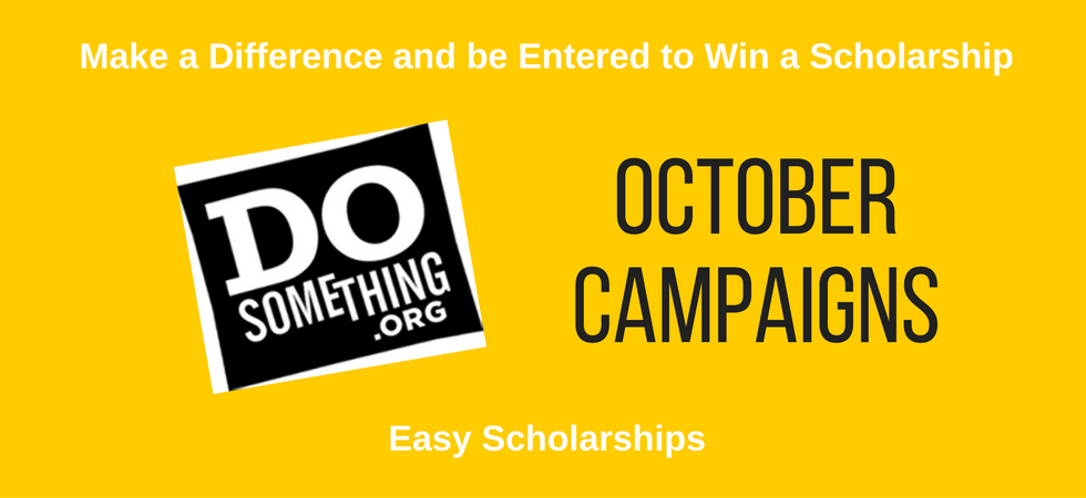 October 2016 Scholarships from DoSomething   JLV College Counseling Blog
