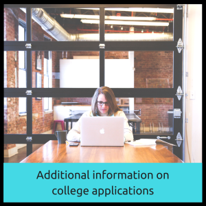 Additional information on college applications | JLV College Counseling Blog