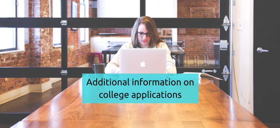 college application additional information essay