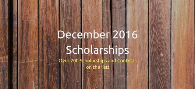 December 2016 Scholarships   JLV College Counseling Blog