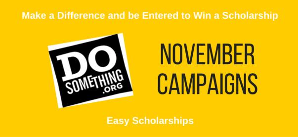 November 2016 scholarships from DoSomething | JLV College Counseling Blog