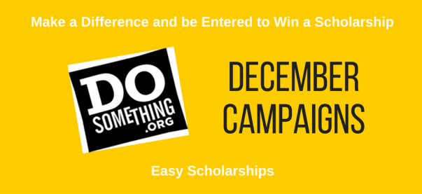 December 2016 scholarships from DoSomething | JLV College Counseling Blog