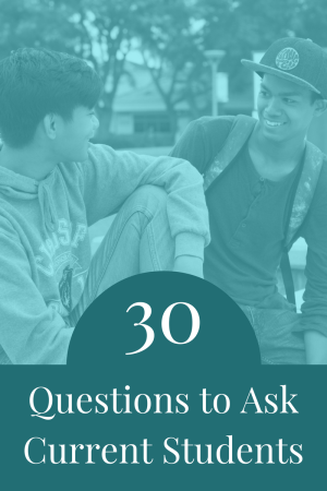30 Questions to Ask Current Students | JLV College Counseling Blog