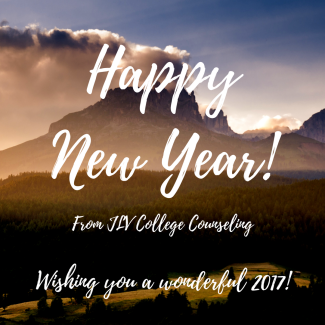 Happy New Year from JLV College Counseling