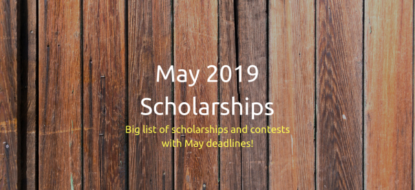 نتيجة بحث الصور عن Scholarships to be offered during the month of May 2019